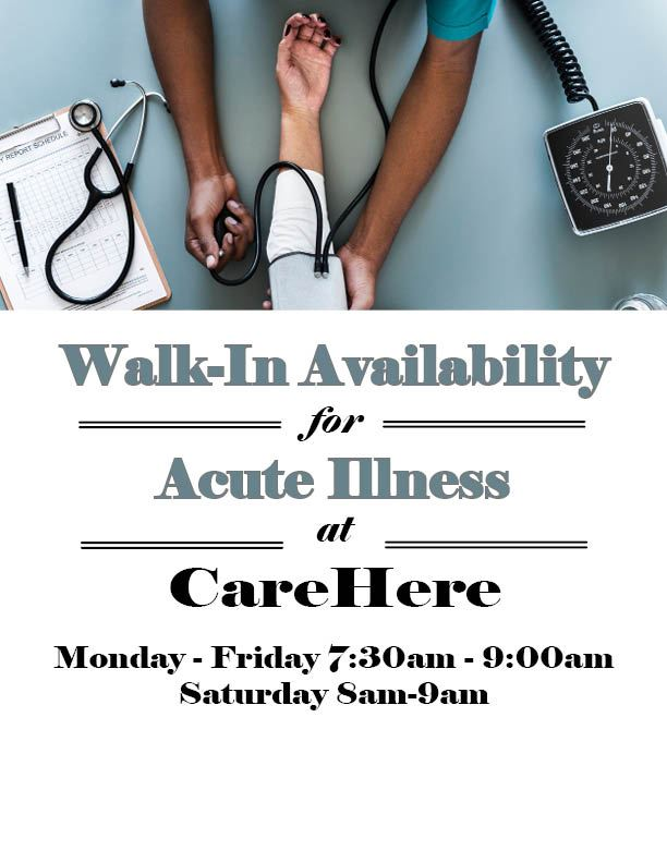 CareHere Acute Illness Flyer