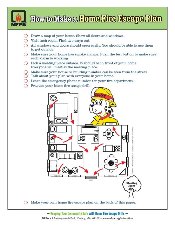 How to Make a Home Fire Escape Plan